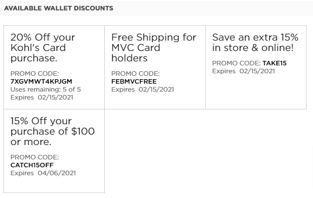 Eligible Kohls Coupons You May Use