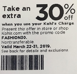 Kohls Mailer Coupon